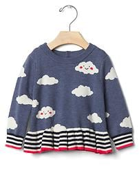 Happy cloud peplum sweater