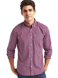 True wash gingham standard fit shirt