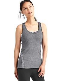 GapFit Breathe mesh-stripe tank