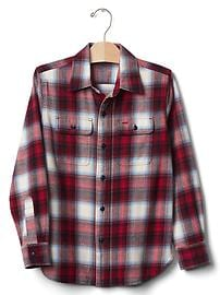GapKids + Pendleton plaid button shirt