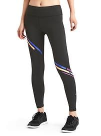 gFast cross train diagonal-stripe leggings