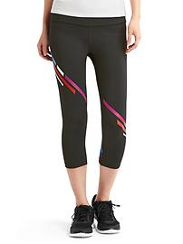 gFast cross train diagonal-stripe capris