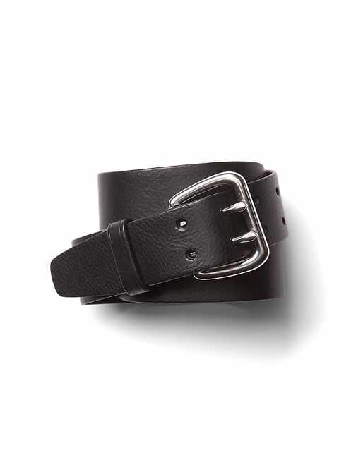 Double-prong jeans belt