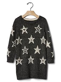Star marled sweater dress