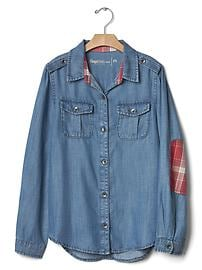 GapKids + Pendleton chambray patch tunic