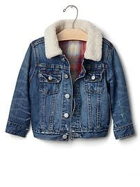 babyGap + Pendleton cozy denim jacket
