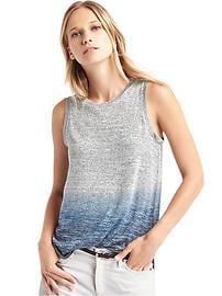 Softspun knit ombr� tank