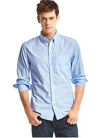 True wash dobby slim fit shirt