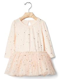 Golden star tulle dress