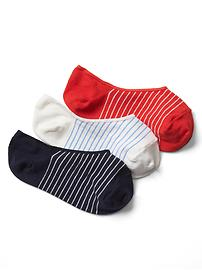 Feeder stripe no show socks (3-pack)