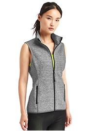 Double-knit zip vest