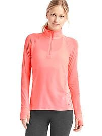 GapFit Breathe mesh-panel half zip pullover