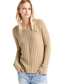 Cozy textured pullover sweater
