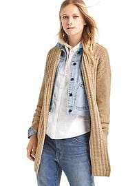 Textured cozy cardigan
