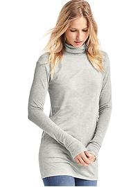 Ribbed modal long turtleneck