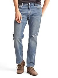 STRETCH 1969 lightly destructed straight fit jeans