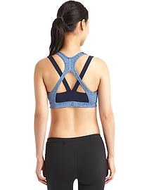 Medium impact Coolmax&#174 double-layer sports bra