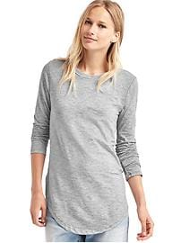 Slub stripe long sleeve tee