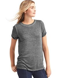 Softspun knit roll-sleeve tee