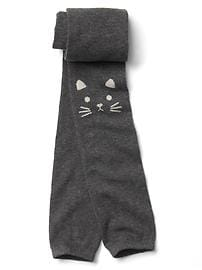 Cat footless tights