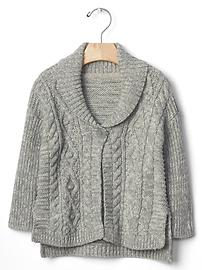 Easy cable knit cardigan