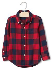 Buffalo plaid button-down shirt