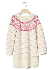 Star fair isle sweater dress