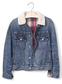 GapKids + Pendleton sherpa denim jacket