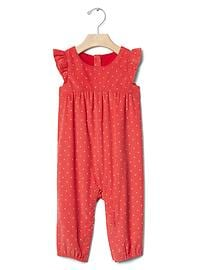 Dotty flutter cord one-piece