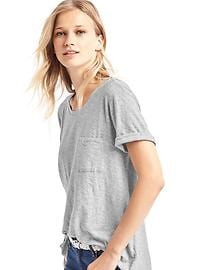 Relaxed slub pocket tee