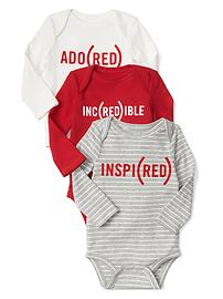 babyGap x (RED) bodysuit (3-pack)