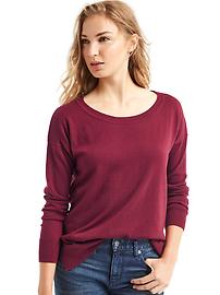 Drop sleeve pullover sweater