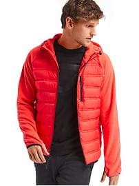PrimaLoft&#174 performance fleece hooded puffer jacket