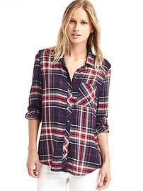 Soft flannel plaid shirt