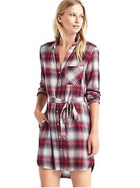 Gap + Pendleton long sleeve shirtdress