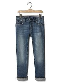 1969 jersey-line frayed straight jeans