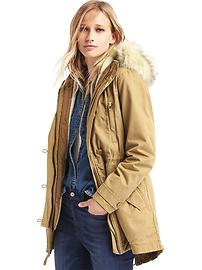 2-in-1 hooded parka