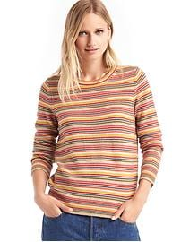 Mini stripe crewneck sweater