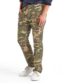 Camo straight fit utility pants