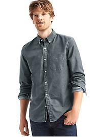 Oxford overdye slim fit shirt