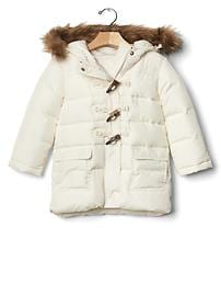 Fur-trim duffle jacket