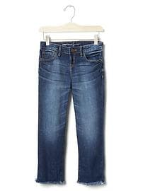 1969 frayed straight ankle jeans