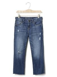 1969 distressed straight ankle jeans