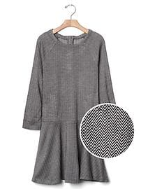 Herringbone flare dress