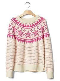 Intarsia star sweater