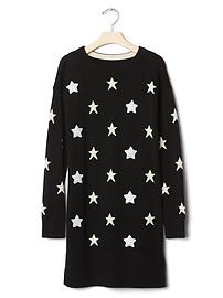 Sequin star sweater dress