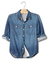 1969 jersey-lined denim shirt