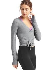 GapFit Breathe barre wrap top