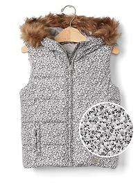 ColdControl Max fur-lined hooded vest