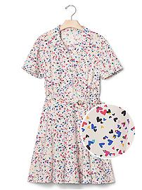 Floral flippy belt dress